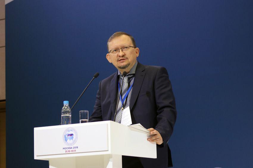 Председатель ВКС Михаил Дроздов выступает на Всемирном конгрессе соотечественников
